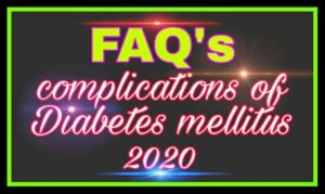 complication of diabetes mellitus
